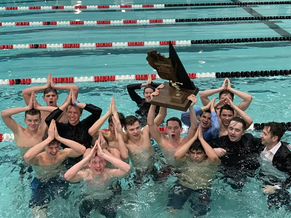 Edgewood Wins Division 2 Boys Swimming & Diving Title