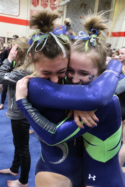 Franklin Co-op, Whitefish Bay Win Fourth Straight Gymnastics Team Titles