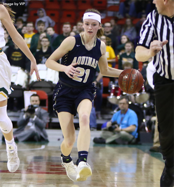 Aquinas Repeats as Division 4 State Girls Basketball Champion