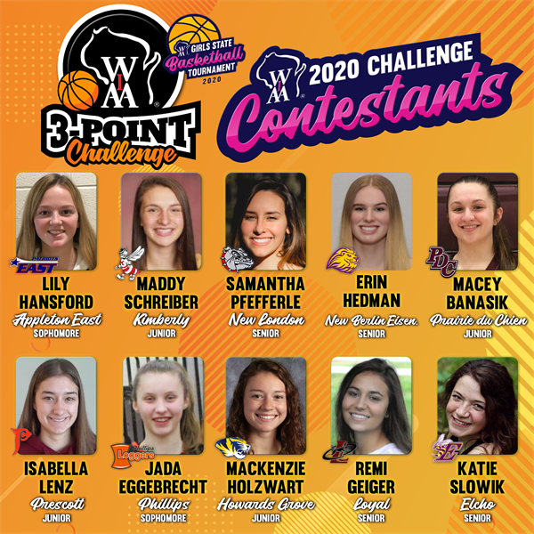 Girls Basketball 3-Point Challenge Qualifiers Honored