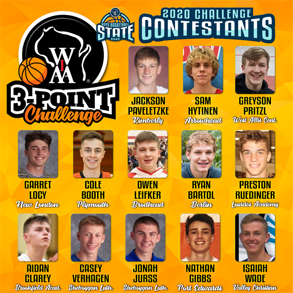 Boys Basketball 3-Point Challenge Qualifiers Honored