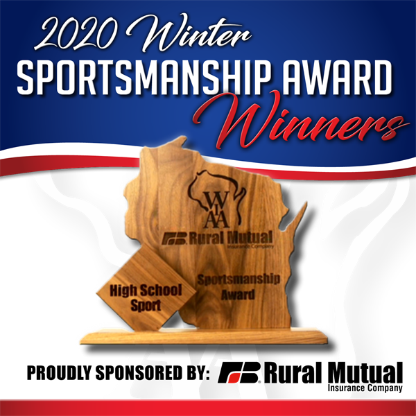 WIAA Winter Team Tournament Sportsmanship Awards Selected