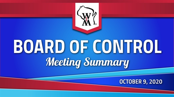 October Board of Control Meeting Release