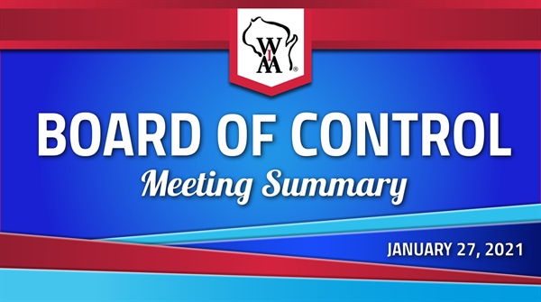 Board of Control January Meeting Release